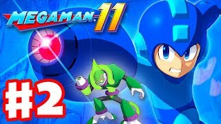 Mega Man 11 - Gameplay Walkthrough Part 2 - Acid Man Stage! (PC)