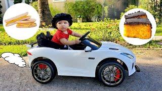 THEO ENTREGA COMIDAS Ride on toy car play delivery service  - Theo Comanda