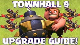 Clash Of Clans Townhall 9 Defense Upgrade Guide | What To Upgrade First At TH9