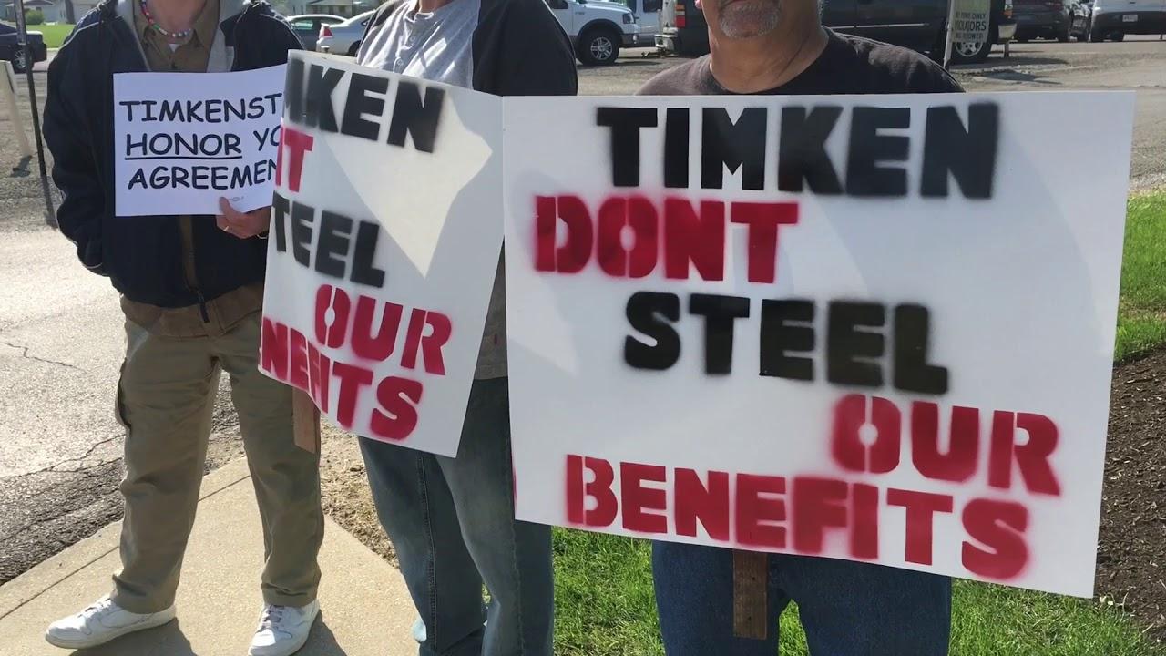 TimkenSteel workers, retirees picket - News - Akron Beacon
