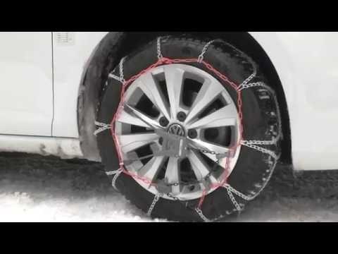 POLAIRE XK7 : passanger car snow Chain fiting - Chaine à neige tourisme montage