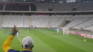 Bidvest Wits 2 vs Cape Town City 0 Simon Murray penalty view from the stands