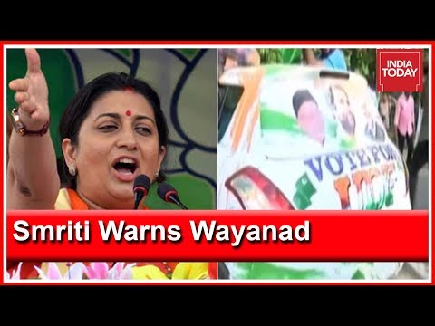 See Condition Of Congress Bastion Amethi & Vote In Wayanad, Smriti Irani Warns