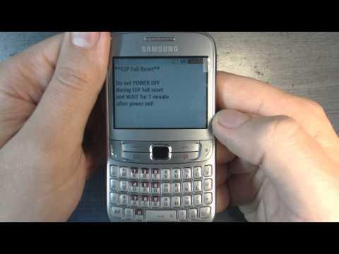 Samsung Ch@t 357 S3570 - How to reset - Como restablecer datos de fabrica