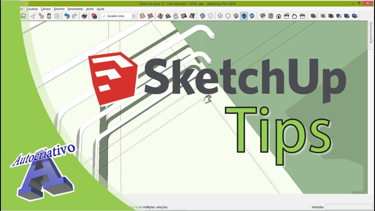 Curso de SketchUp Tips - Aula 21 - Guarda-Corpo da Fachada - Autocriativo