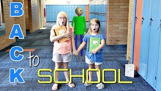 BACK TO SCHOOL Baldi's Basics in REAL Life!
