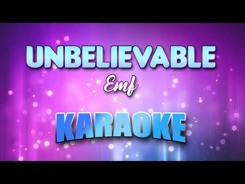 Emf - Unbelievable (Karaoke version with Lyrics)