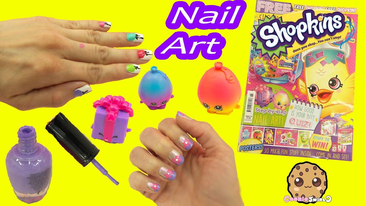 nail art fail - shopkins official