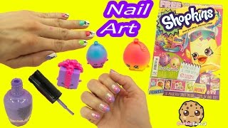 Nail Art Fail - Shopkins Official Magazine Nail Art Nail Polish Step By Step - Cookieswirlc Video