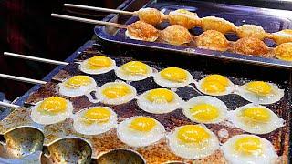 Xian (China) Street Food - Quail Egg Skewers 鹌鹑蛋串