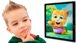Arthur sedang memainkan Talking Ginger Cat yang lucu | Video untuk anak-anak