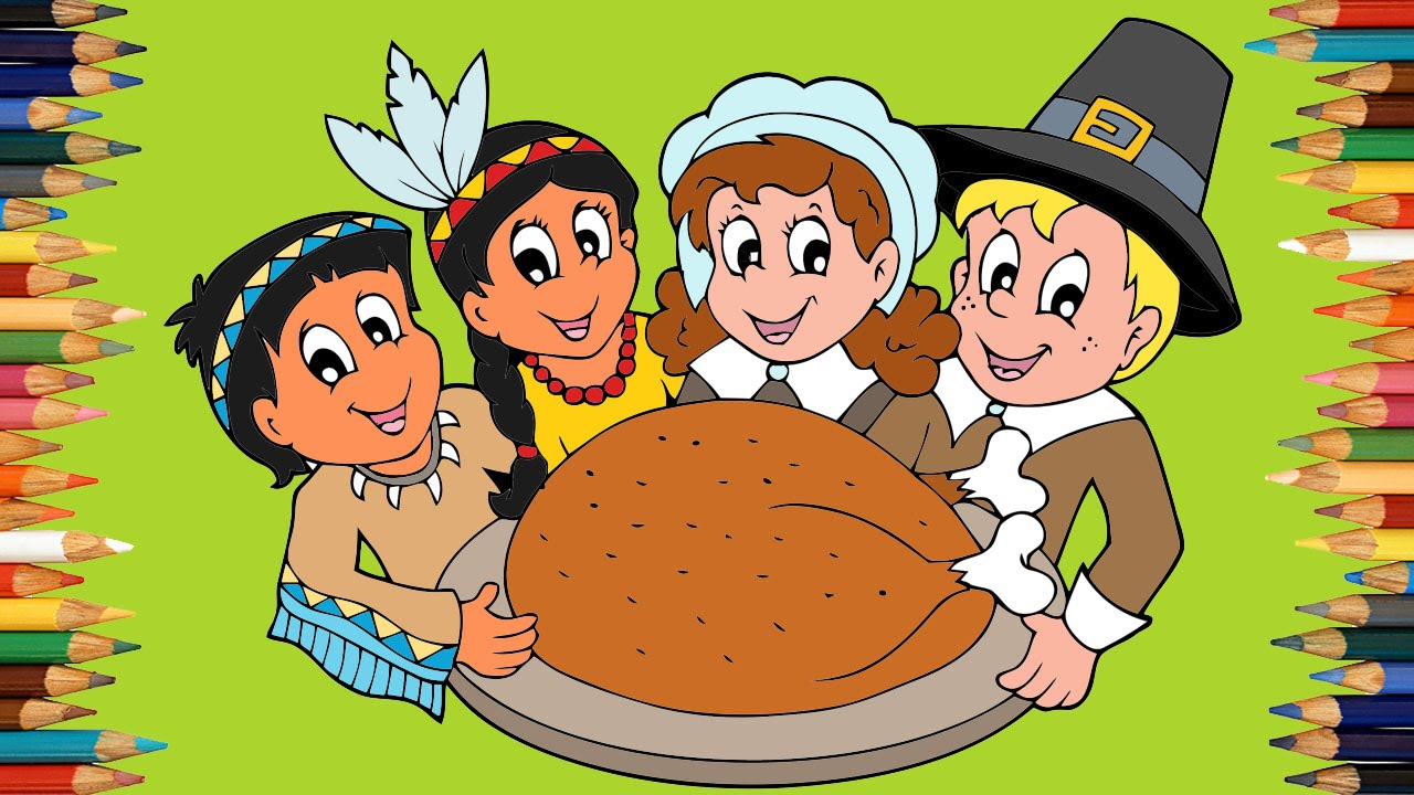 Thanksgiving Coloring Pages For Kids ♥ Thanksgiving Coloring Book ...