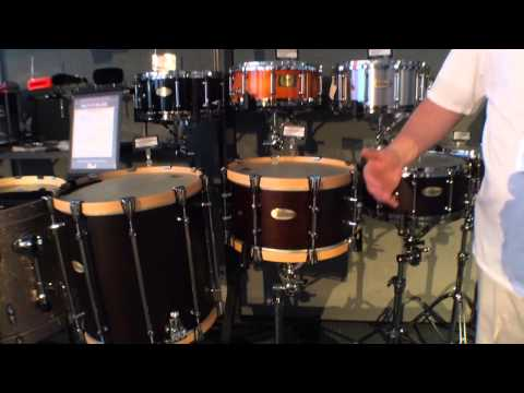 2014 Winter NAMM Pearl PHX Philharmonic Snare Drums