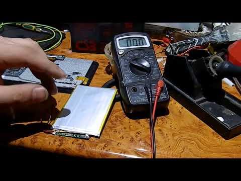Как проверить работоспособность аккумулятора на планшете три провода