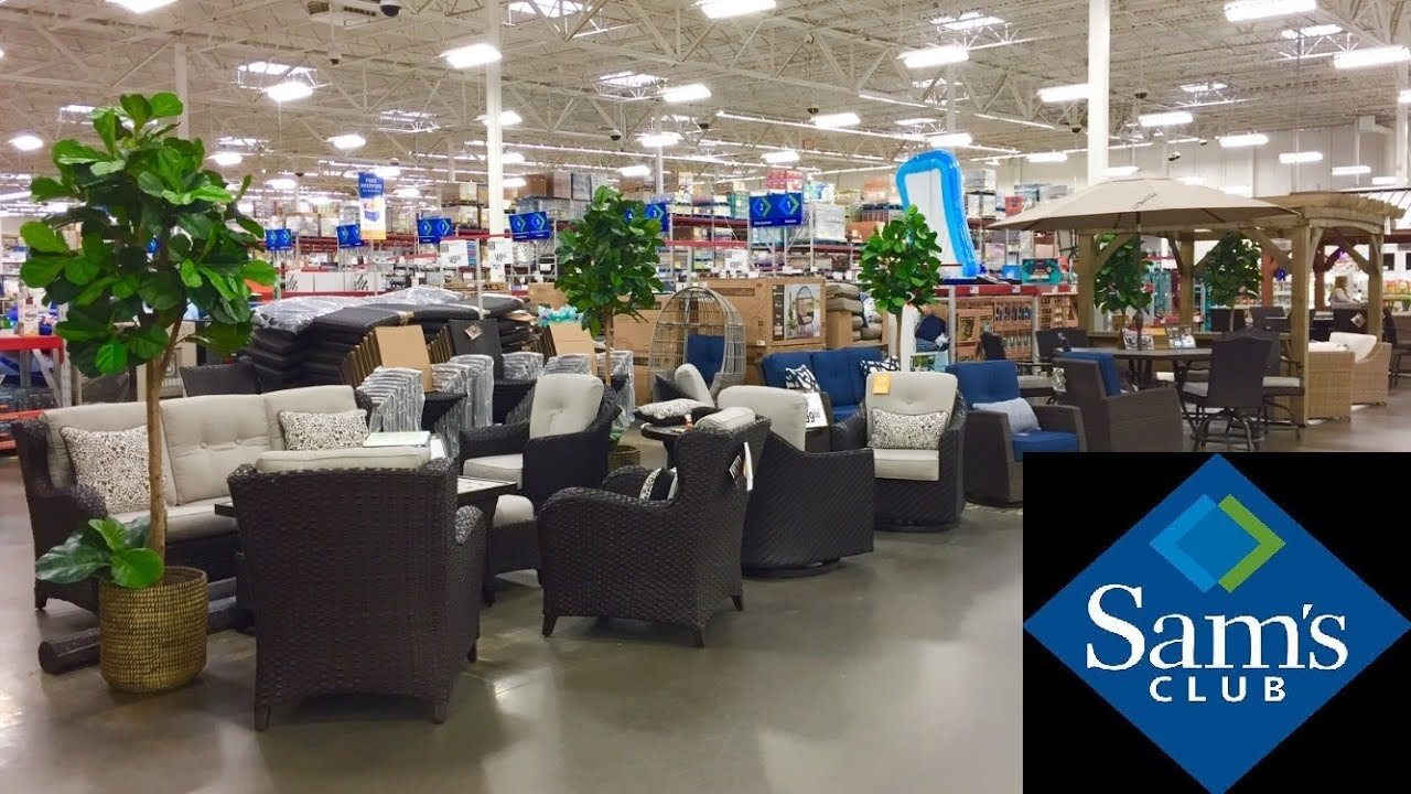 sam s club outdoor patio furniture chairs sofas home decor shop with me shopping store walk through