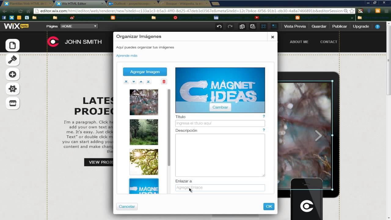 Como Crear y Editar una Pagina Web en Wix, GRATIS Y EDITABLE ...