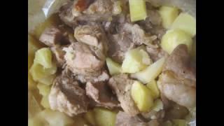 Запекаем картошку с мясом в рукаве