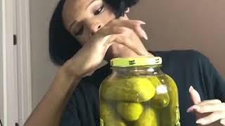 Asmr pickle eating thumbnail