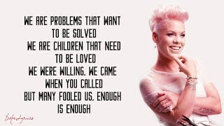 P nk What About Us Lyrics