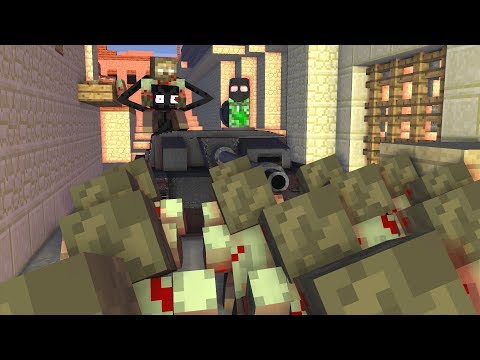 Monster School : ZOMBIE APOCALYPSE CS:GO Challenge - Minecraft Animation