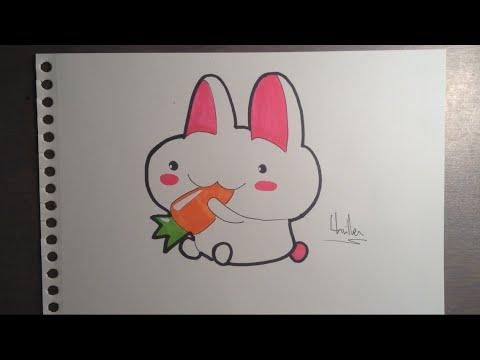 Comment dessiner un lapin kawaii youtube - Dessin un lapin ...