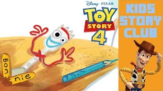 Toy Story 4: Forky In Craft Buddy Day   Children's Books Read Aloud