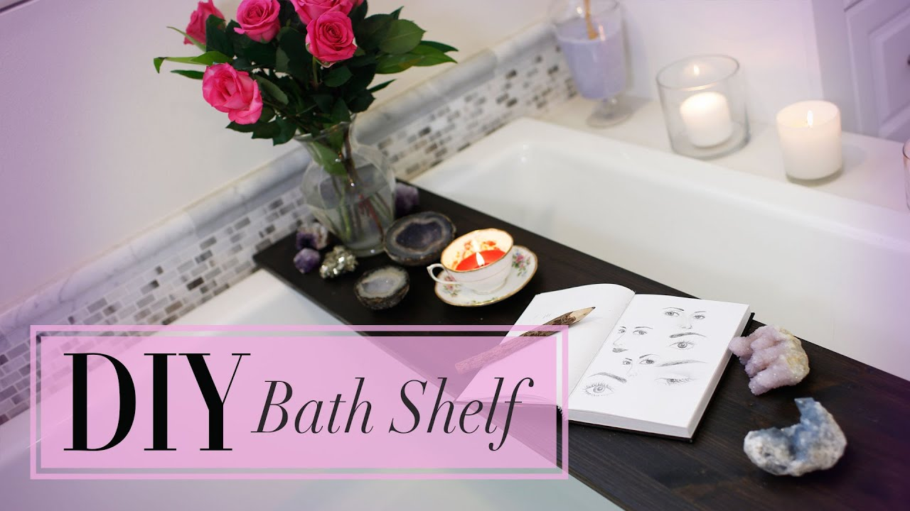 diy bath decor shelf personal spa ann le youtube - Diy Bathroom Decor