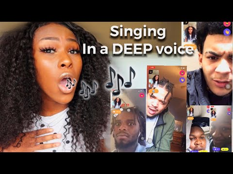 SINGING IN A DEEP VOICE ON MONKEY APP 🔥 (They Love It)