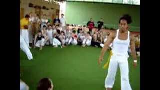 Capoeira of San Jose. Latife Crowder and prof Jeremi