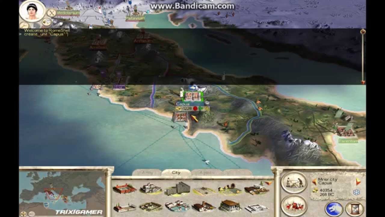 <b>Rome Total War</b> How to create unit using <b>cheat</b> [units names in ...