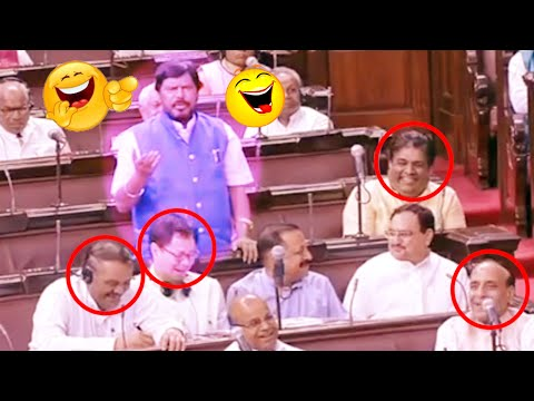 Ramdas Athawale Funny Comments On Congress Party | Rajya Sabha | Parliament Session | Mango News