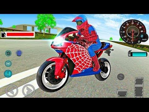 Juego De Motos Para Niños | Spiderman - Videos Para Niños