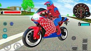 Juego de Motos para Ninos Spiderman - Videos para Ninos