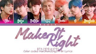 BTS                       Make it Right  Color Coded sHanRomEngPt-Br  Resimi
