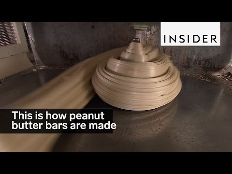 This is how peanut butter bars are made