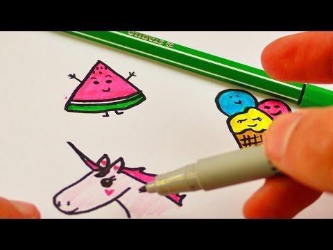 DIY Filofax Ideen | Niedliche Bilder malen | Sweet Edition mit Süßigkeiten, Eis & Einhorn | Cute
