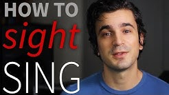 Learn how to SIGHT SING. Interactive singing lesson!