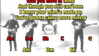 Think For Yourself Beatles best karaoke instrumental lyrics chords cover