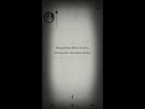 Idhayathil Yedo Ondru Karaoke Song With Lyrics