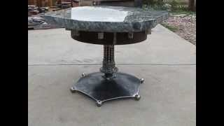 Custom Steel & Stone Table By Dwayne Cranford