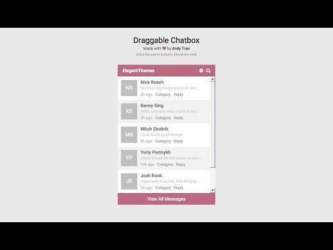 20+ HTML CSS Chat Box Designs