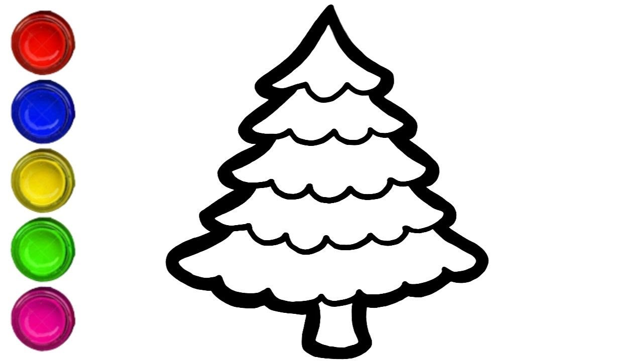 LEARN HOW TO DRAW CHRISTMAS TREE EASILY | DRAW CHRISTMAS ...