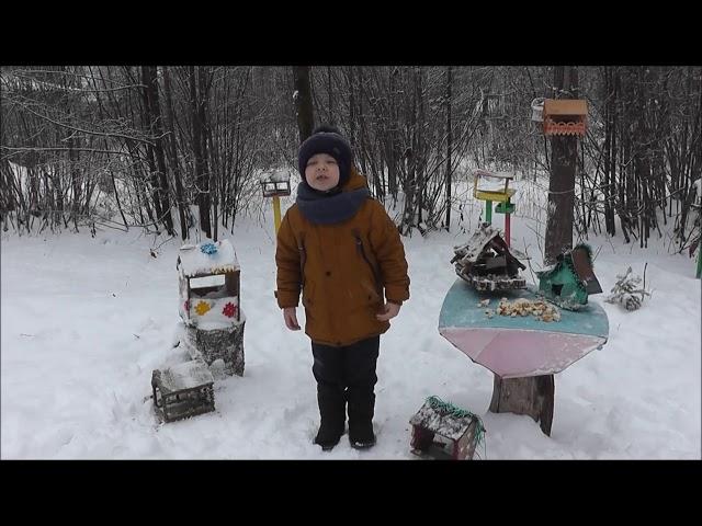 Изображение предпросмотра прочтения – ВасяАпян читает произведение «Покормите птиц зимой» А.Я.Яшина