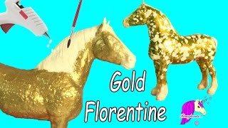how to make custom breyer gold florentine horse   do it yourself melting wax painting craft video