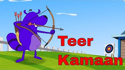 Teer Kamaan Ep - 37 - Pyaar Mohabbat Happy Lucky - Funny Hindi Cartoon Show - Zee Kids