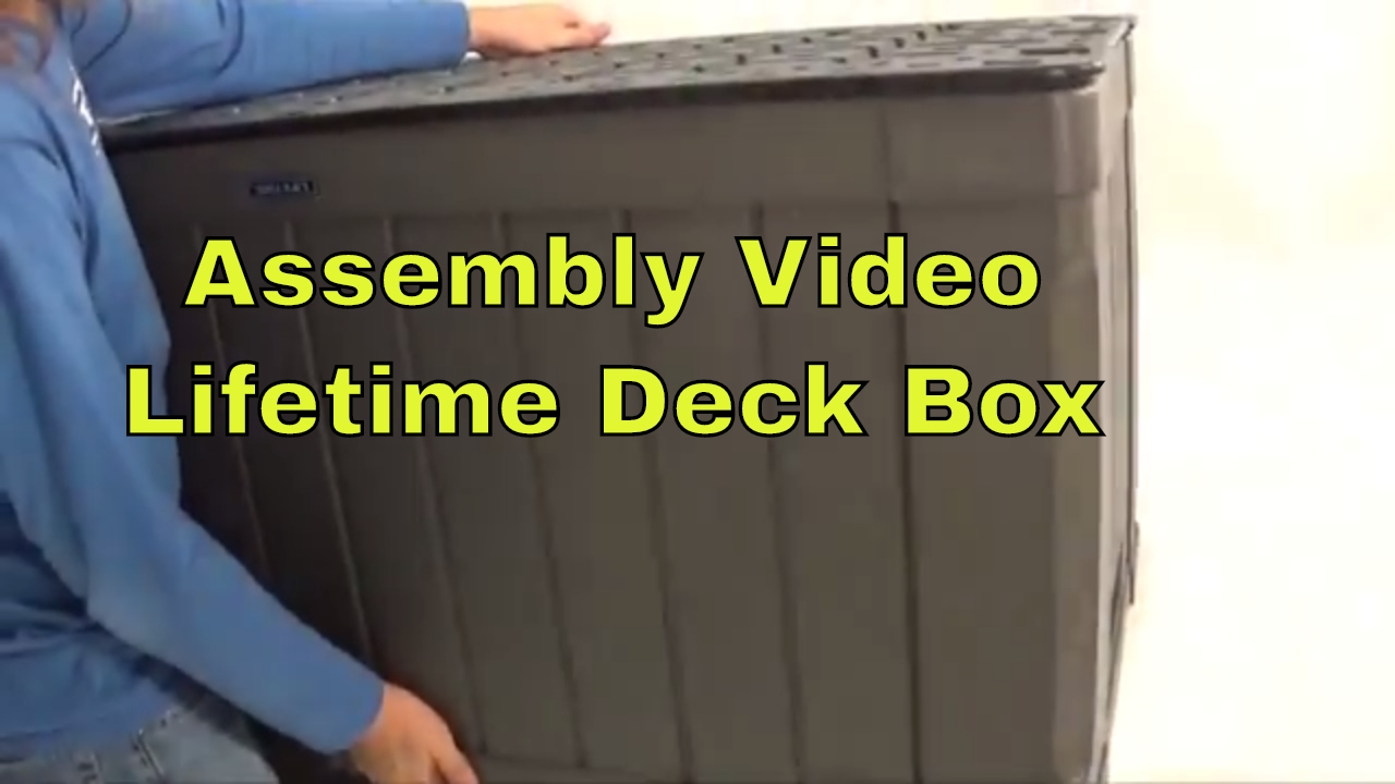 Lifetime 60089 Outdoor Deck 116 Gallon Brown Storage Box Assembly Video