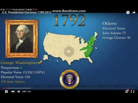 The US presidential Elections 1788-1798 to 2012
