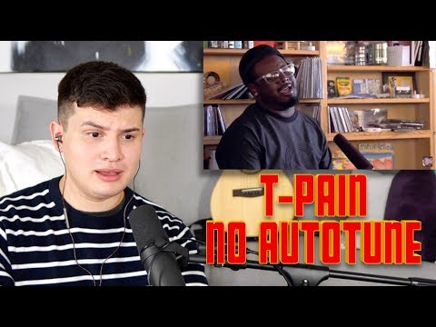 Vocal Coach Reacts to T-Pain Singing NO AUTOTUNE