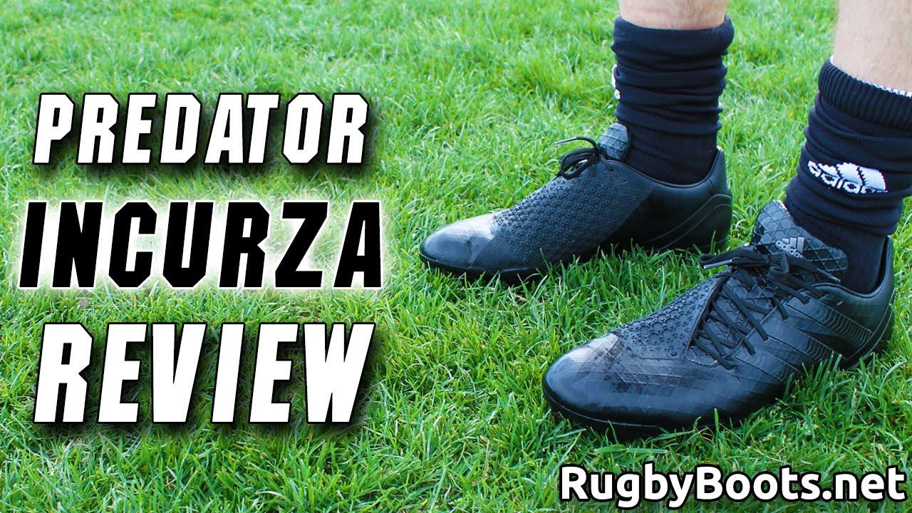 brillo Comparar Estrella  Black adidas Predator Incurza Review - 2015 Rugby World Cup Boots - YouTube