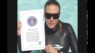 Karol Meyer Recorde mundial de apneia *  World Record Apnea Breath hold with pure oxygen